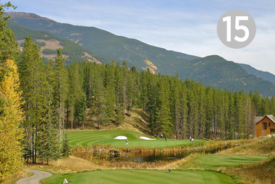 Eagle Nest, Hole #15 at Greywolf Golf Course in Panorama, BC.