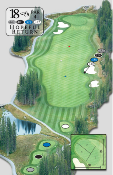 Greywolf Golf Course Hole 1 Panorama British Columbia