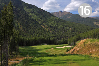 Moose Back, Hole #16 at Greywolf Golf Course in Panorama, BC.