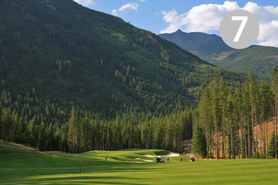 Prospector's, Hole #7 at Greywolf Golf Course in Panorama, BC.