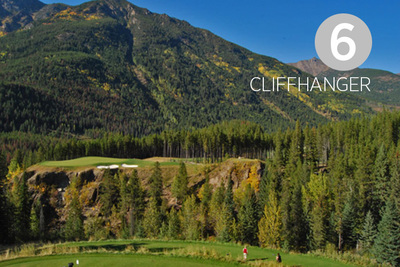 Cliffhanger, Hole #6 at Greywolf Golf Course in Panorama, BC.