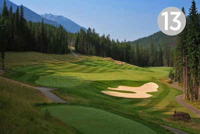 Creekside, Hole #13 at Greywolf Golf Course in Panorama, BC.