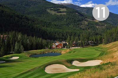 Panorama, Hole #11 at Greywolf Golf Course in Panorama, BC.