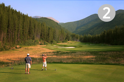 Brewer, Hole #2 at Greywolf Golf Course in Panorama, BC.