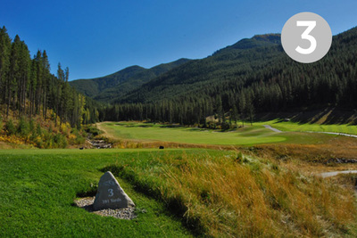 Pica's, Hole #3 at Greywolf Golf Course in Panorama, BC.