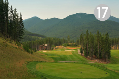 Cliff Side, Hole #17 at Greywolf Golf Course in Panorama, BC.