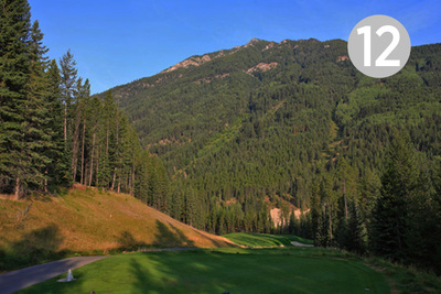 Heli High, Hole #12 at Greywolf Golf Course in Panorama, BC.