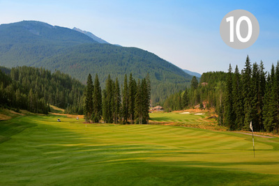 Tranquility, Hole #10 at Greywolf Golf Course in Panorama, BC.