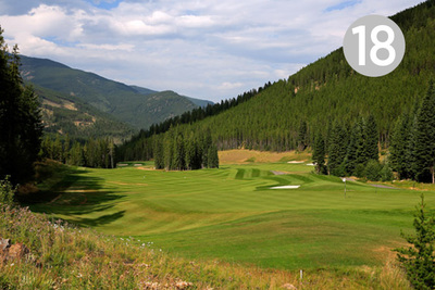 Hopeful Return, Hole #18 at Greywolf Golf Course in Panorama, BC.
