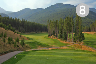 Hideaway, Hole #8 at Greywolf Golf Course in Panorama, BC.