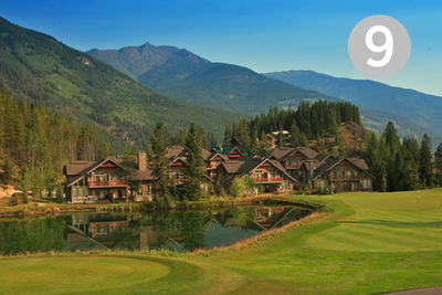Wolf's Lake, Hole #9 at Greywolf Golf Course in Panorama, BC.