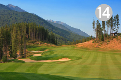 Notch, Hole #14 at Greywolf Golf Course in Panorama, BC.